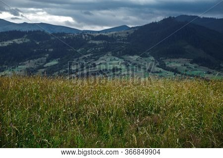 The Carpathians Are A Beautiful Country Of Mountains. Carpathians Are Located In Ukraine. In The Car