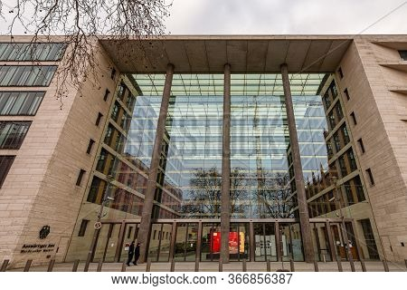 Berlin / Germany - February 12, 2017: Federal Foreign Office (auswärtiges Amt), Foreign Ministry Bui