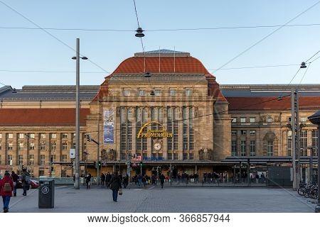 Leipzig / Germany - February 24, 2017: Leipzig Hauptbahnhof, Leipzig Main Railway Station In Leipzig