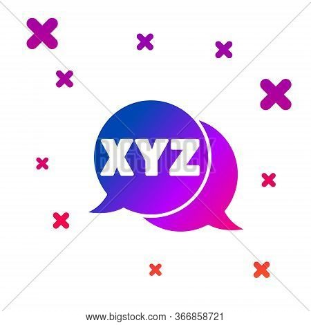 Color Xyz Coordinate System Icon Isolated On White Background. Xyz Axis For Graph Statistics Display