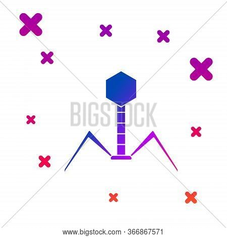 Color Bacteria Bacteriophage Icon Isolated On White Background. Bacterial Infection Sign. Microscopi