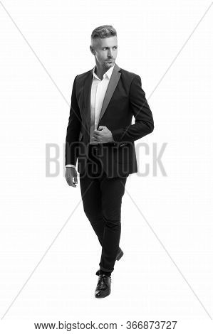 Believe In Yourself. Successful Businessman. Business Man Isolated On White. Professional Man In For