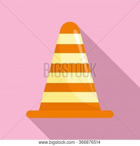 Road Cone Icon. Flat Illustration Of Road Cone Vector Icon For Web Design