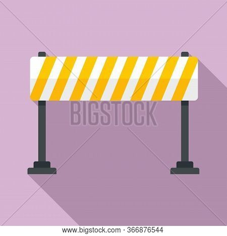 Road Barrier Line Icon. Flat Illustration Of Road Barrier Line Vector Icon For Web Design