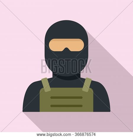 Police Special Forces Icon. Flat Illustration Of Police Special Forces Vector Icon For Web Design