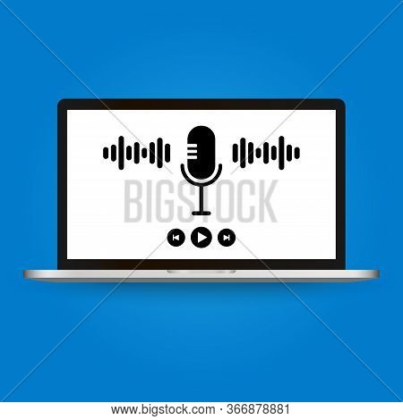 Podcasts,radio, Online Courses. Young People Record Episodic Series Of Digital Audio Files, An Onlin