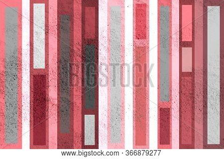 Striped Wall Design. Creative Pattern For Decor. Multicolored Striped Background.