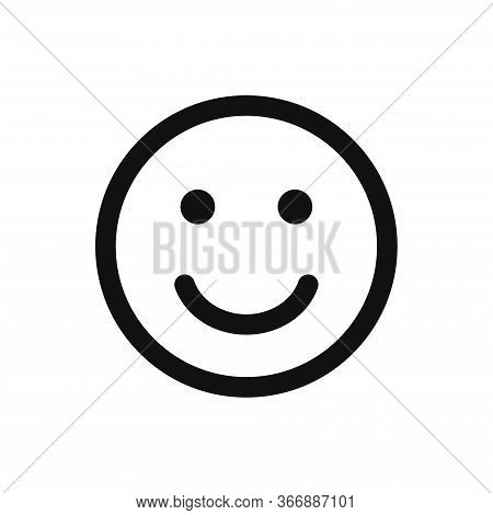 Smile Icon Isolated On White Background. Smile Icon In Trendy Design Style. Smile Vector Icon Modern