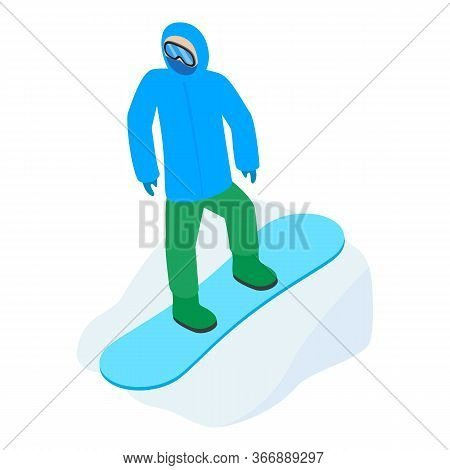 Snowboarder Icon. Isometric Illustration Of Snowboarder Vector Icon For Web