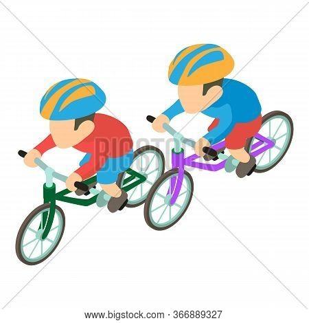 Professional Cyclist Icon. Isometric Illustration Of Professional Cyclist Vector Icon For Web