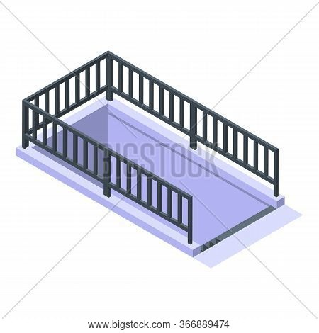 Underground Crossing Icon. Isometric Of Underground Crossing Vector Icon For Web Design Isolated On