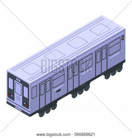 Metro Wagon Icon. Isometric Of Metro Wagon Vector Icon For Web Design Isolated On White Background
