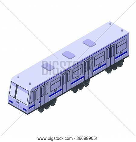 Express Wagon Train Icon. Isometric Of Express Wagon Train Vector Icon For Web Design Isolated On Wh