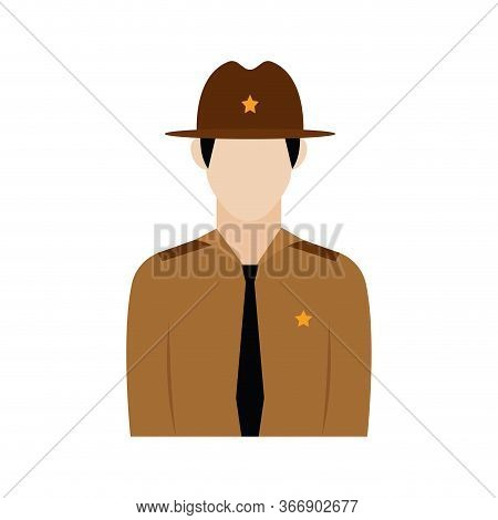 Isolated Ranger Icon. Professions Or Occupations Icons - Vector