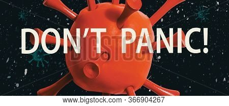 Dont Panic Theme With A Big Red Virus