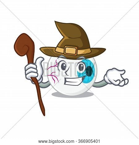 Eyeball Funny But Sneaky Witch Cartoon Character Design