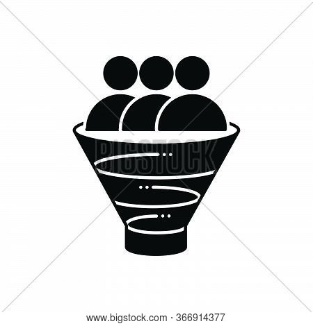 Black Solid Icon For Sales-funnel Sales Funnel Purchase