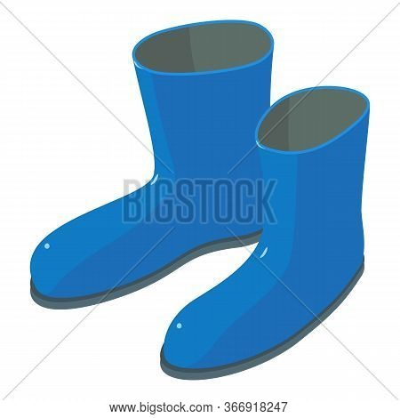 Garden Rubber Boots Icon. Isometric Of Garden Rubber Boots Vector Icon For Web Design Isolated On Wh