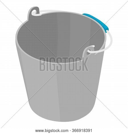 Garden Bucket Icon. Isometric Of Garden Bucket Vector Icon For Web Design Isolated On White Backgrou