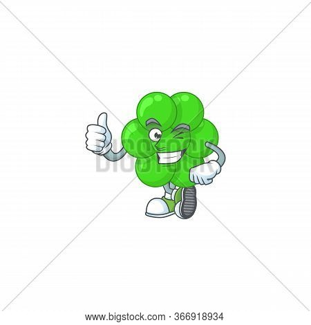 Caricature Picture Of Staphylococcus Aureus With Thumbs Up Finger