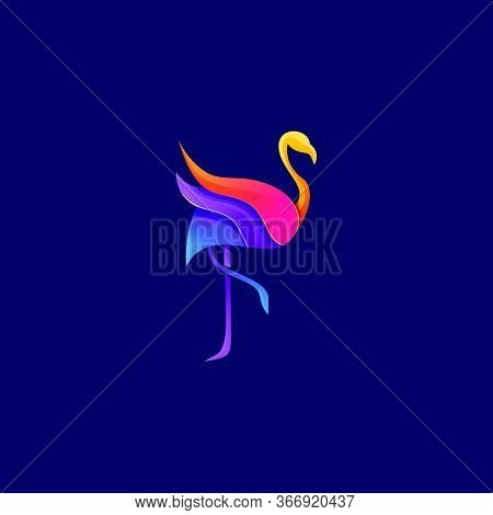 Flamingo Logo With Modern Design. Icon Flamingo Vector Illustration