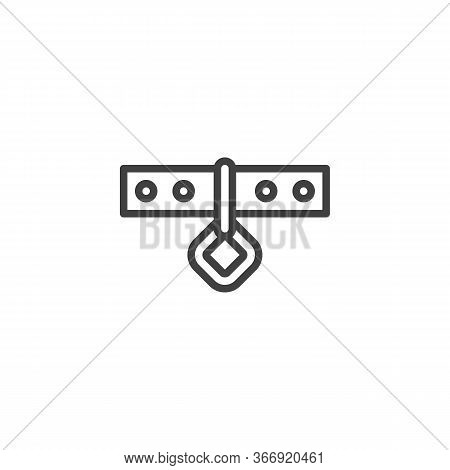 Pet Dog Collar Line Icon. Linear Style Sign For Mobile Concept And Web Design. Dog-collar Outline Ve