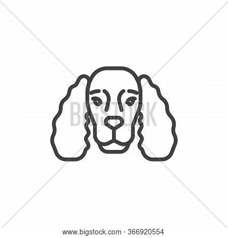 Cocker Spaniel Line Icon. Linear Style Sign For Mobile Concept And Web Design. Cocker Spaniel Dog Br