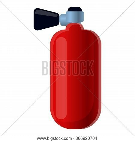 Portable Fire Extinguisher Icon. Cartoon Of Portable Fire Extinguisher Vector Icon For Web Design Is