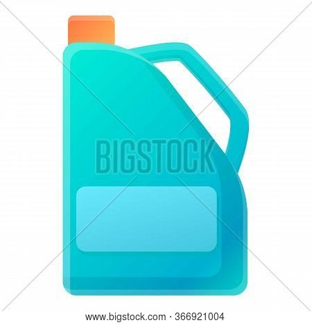 Oil Canister Icon. Cartoon Of Oil Canister Vector Icon For Web Design Isolated On White Background