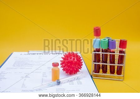 Samples Of Covid-19 Vaccines For Immunization Prevention And Treatment From Viral Infections. Medica