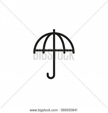 Line Icon Of Umbrella. Protection, Security, Sunshade. Insurance Concept. Can Be Used For Pictograms
