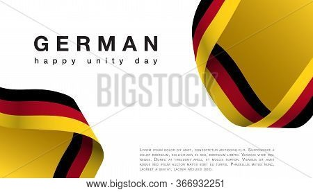 Germany Happy Unity Day October 3 Celebrate Banner
