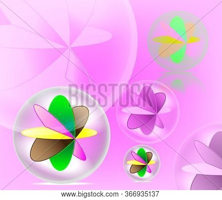 Beaytiful Colorful Mable Ball Toy Spiral Background