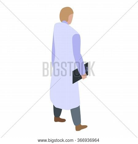 Woman Cardiologist Icon. Isometric Of Woman Cardiologist Vector Icon For Web Design Isolated On Whit