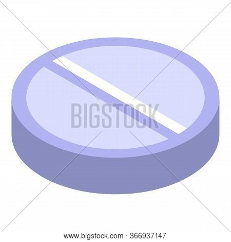 Oculist Pill Icon. Isometric Of Oculist Pill Vector Icon For Web Design Isolated On White Background