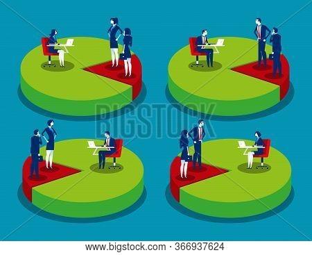 Set Market Share Or Market Penetration. Business Marketing Concept