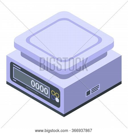 Electronic Weigh Scales Icon. Isometric Of Electronic Weigh Scales Vector Icon For Web Design Isolat