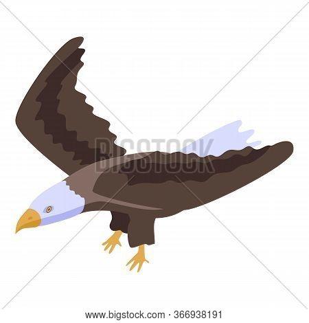 Freedom Eagle Icon. Isometric Of Freedom Eagle Vector Icon For Web Design Isolated On White Backgrou