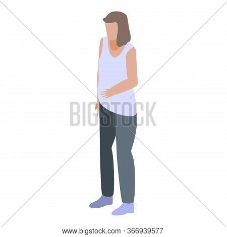 Nutritionist Woman Patient Icon. Isometric Of Nutritionist Woman Patient Vector Icon For Web Design