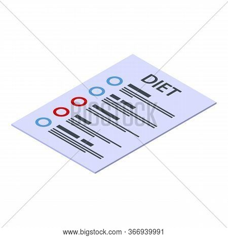 Diet Program Icon. Isometric Of Diet Program Vector Icon For Web Design Isolated On White Background