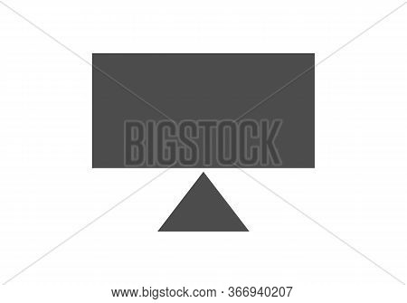 Computer Screen Icon, Computer Screen Icon Image, Monitor Icon Vector Isolated