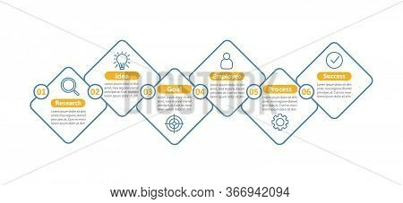 Goal Setting And Achieving Vector Infographic Template. Business Development. Idea Realization. Data