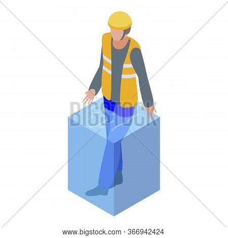 Rescue Man Flood Icon. Isometric Of Rescue Man Flood Vector Icon For Web Design Isolated On White Ba