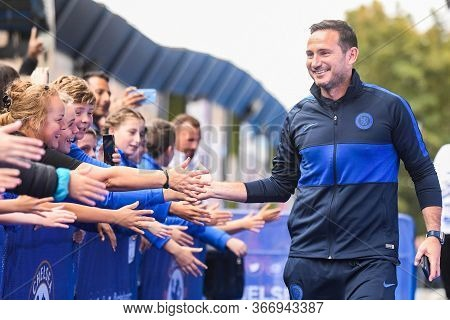 London, England - September 22, 2019: Chelsea Head Coach Frank Lampard Arrives At The Stadium For Th