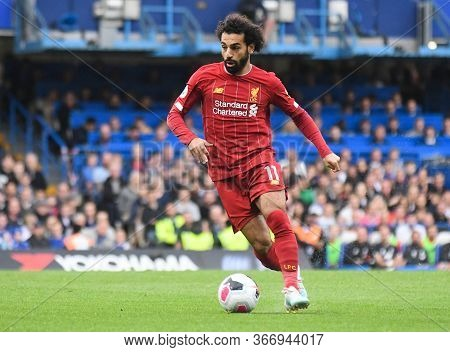 London, England - September 22, 2019: Mohamed Salah Of Liverpool Pictured During The 2019/20 Premier