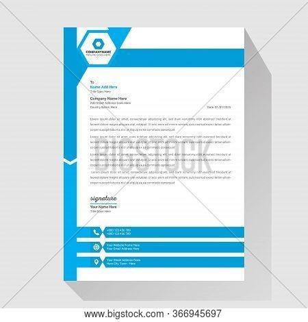 Business Simple Unique Letterhead Design Template Vector