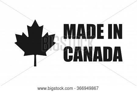 Made In Canada. Leaf Logo Icon Design Element. Vector Isolated