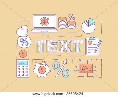 Roi Word Concepts Banner. Interest Rate. Banking. Stock Market Statistics. Presentation, Website. Is