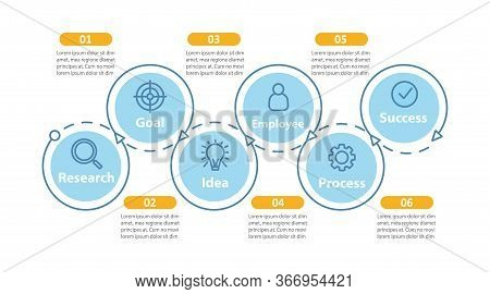 Goal Setting And Achieving Vector Infographic Template. Ambitions And Success. Idea Realization. Dat