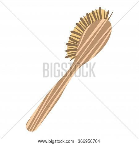 Anti-cellulite Massage Brush For Massage And Self-massage. Vector.